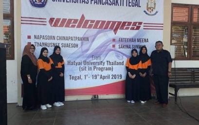 Selamat datang mahasiswa Sit In Program dari Hatyai University di FKIP Universitas Pancasakti Tegal