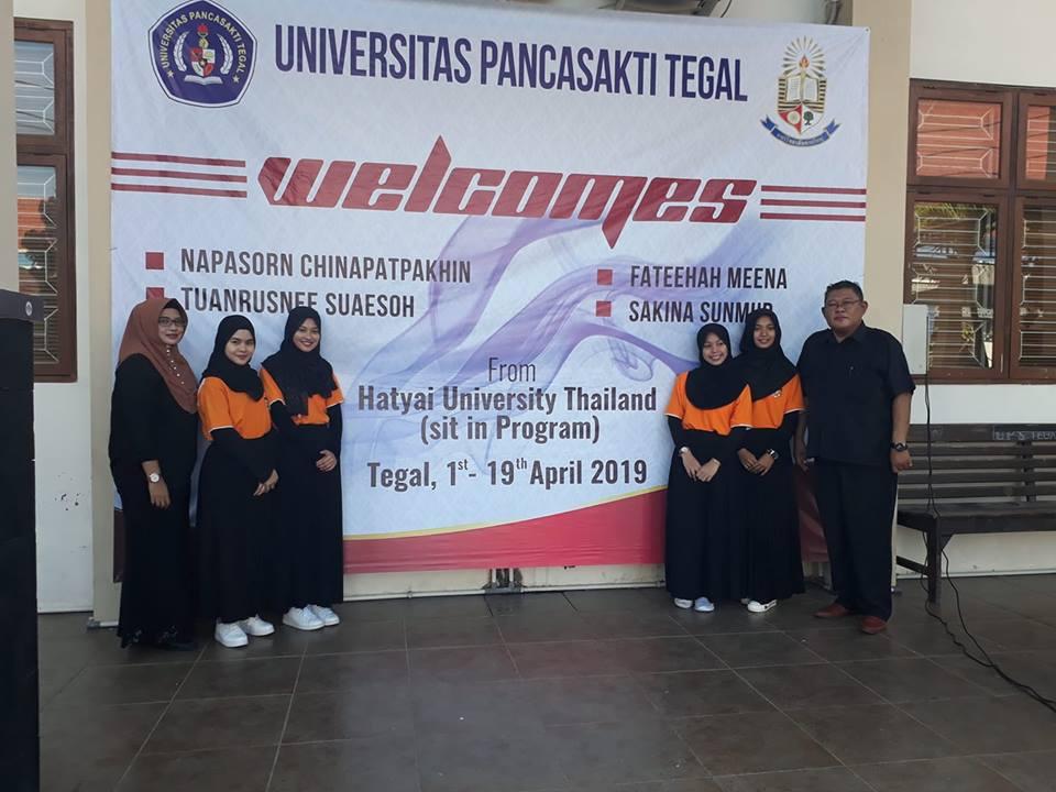 Selamat datang mahasiswa Sit In Program dari Hatyai University di FKIP Universitas Pancasakti Tegal