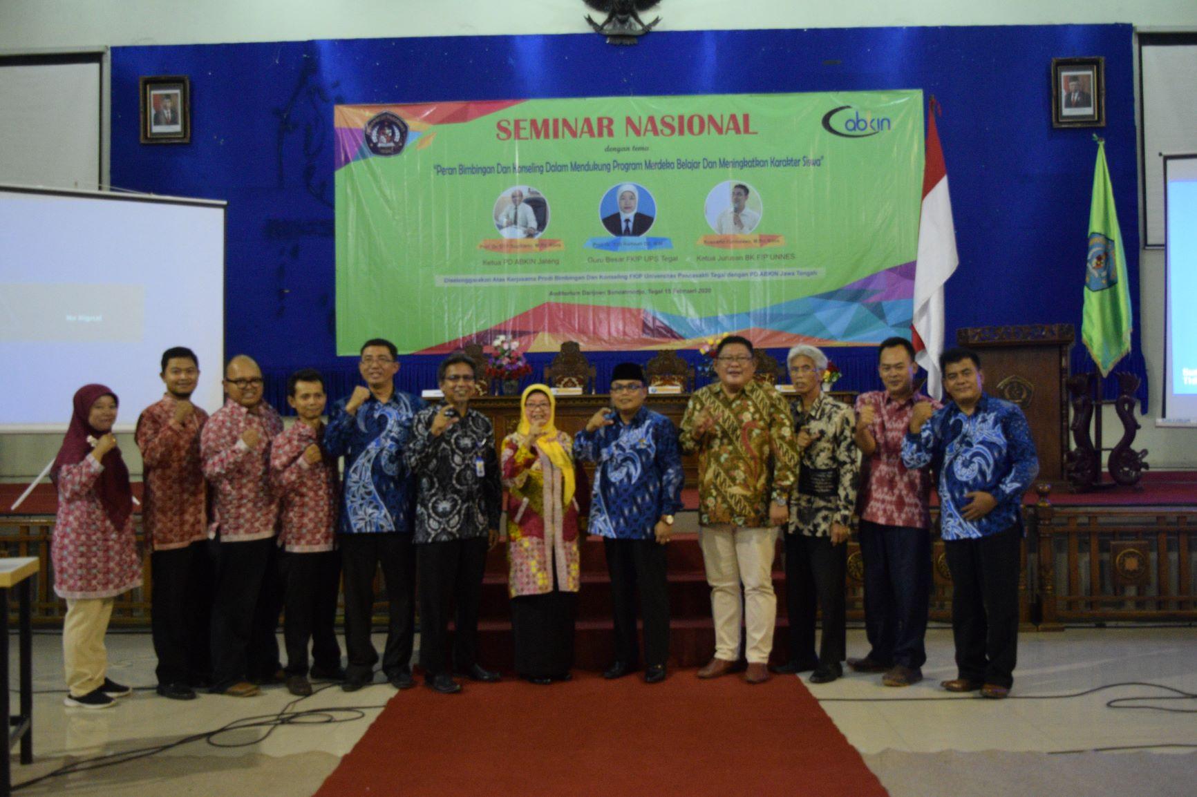 Seminar Nasional Prodi Bimbingan dan Konseling & MOU kerja sama BK UPS dengan PD ABKIN JATENG